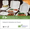 Green Collection: Compostable Hinged Containers