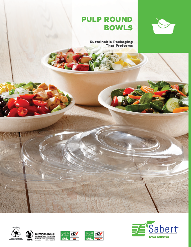 Green Collection: Compostable Round Bowls