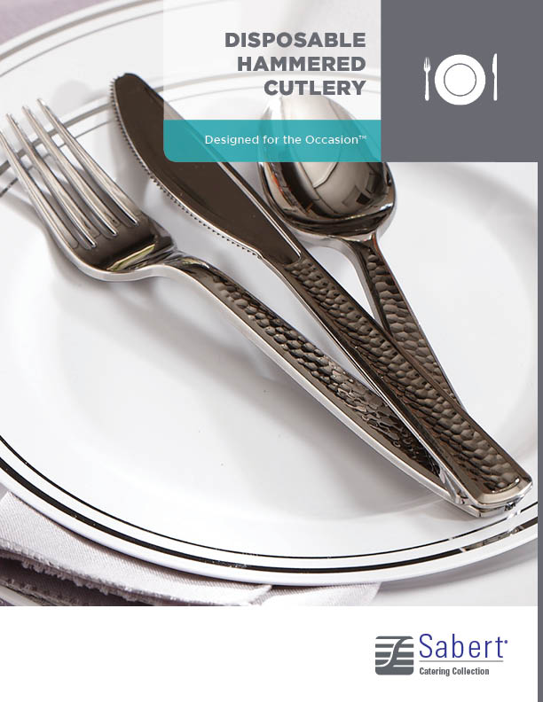 Catering Collection: Disposable Hammered Cutlery